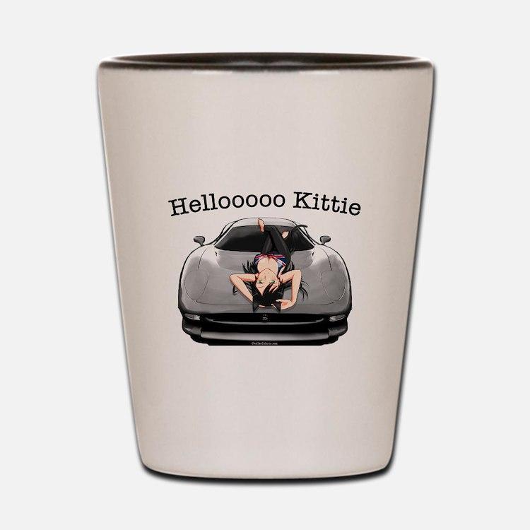 XJ220 Helloooo Kittie Shot Glass