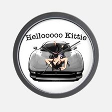 XJ220 Helloooo Kittie Wall Clock