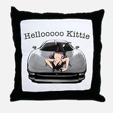 XJ220 Helloooo Kittie Throw Pillow