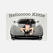 XJ220 Helloooo Kittie Rectangle Magnet