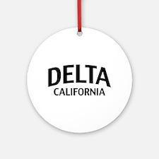 Delta California Ornament (Round)