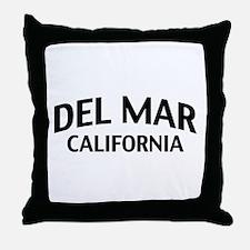 Del Mar California Throw Pillow