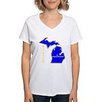 MI-Mt. Pleasant Women's V-Neck T-Shirt