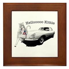 E-type Helloooo Kittie Framed Tile