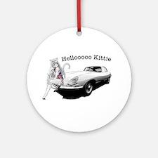 E-type Helloooo Kittie Ornament (Round)