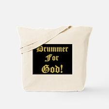 Christian Drummer For God Tote Bag