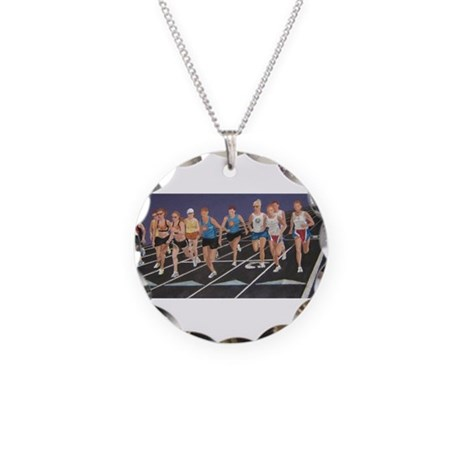 They're Off! Necklace Circle Charm
