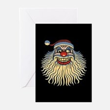 Scary Santa Clown Greeting Cards (Pk of 10)