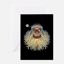 Scary Santa Clown Greeting Card