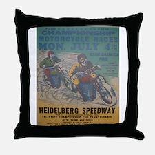 Vintage Race Throw Pillow