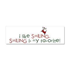 i like smiling Car Magnet 10 x 3