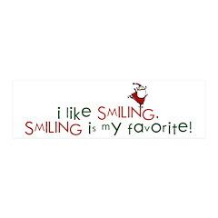 i like smiling 21x7 Wall Peel