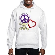 Peace,Love,Pirates Hoodie