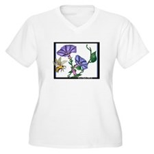 bee with morning glories T-Shirt