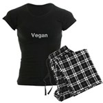 Black on white Vegan Women's Dark Pajamas