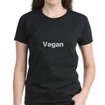 Black on white Vegan Women's Dark T-Shirt