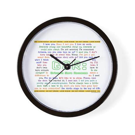 GSR 'SHIPPY QUOTES Wall Clock