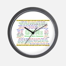 GSR 'SHIPPY QUOTES Wall Clock