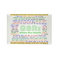 GSR 'SHIPPY QUOTES Rectangle Magnet
