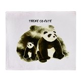 Panda bear blanket Fleece Blankets