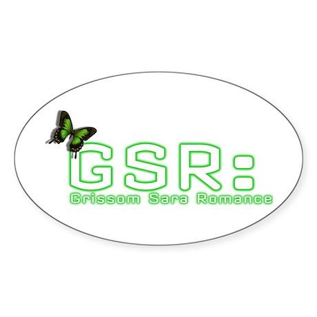 GSR LOGO Oval Sticker