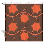 Spirolap Brown Shower Curtain