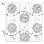 Spirolap Gray Shower Curtain