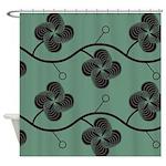 Spirolap Green Shower Curtain