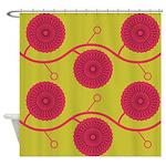 Spirolap Lime Shower Curtain