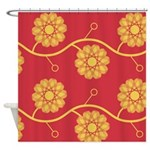 Spirolap Red Shower Curtain
