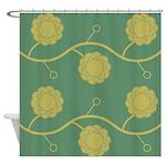 Spirolap Yellow Shower Curtain