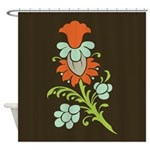 Paisley to Flower Shower Curtain