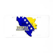 Flag Map of Bosnia Aluminum License Plate