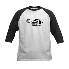 Mooing Cow Kids Baseball Jersey