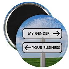 "My Gender vs Your Business 2.25"" Magnet (10 pack)"
