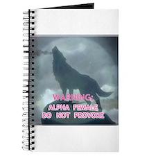 WEREWOLF ALPHA FEMALE DO NOT Journal