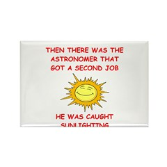 funny astronomy Rectangle Magnet