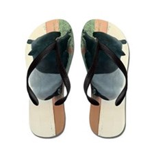 Helaine's Tapir Flip Flops