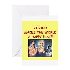 vishnu Greeting Card