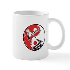 Snake & Crane Yin Yang Small Mug