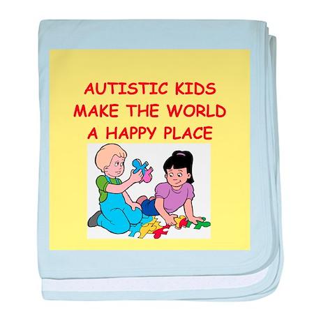 autistic kids baby blanket