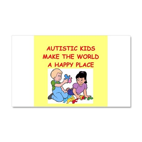 autistic kids Car Magnet 20 x 12