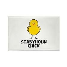 Stabyhoun Chick Rectangle Magnet