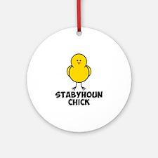 Stabyhoun Chick Ornament (Round)