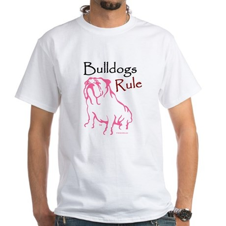 Bulldogs Rule Pink/White T-Shirt