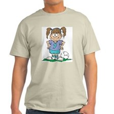 Girl Soccer Ash Grey T-Shirt