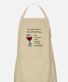 Seen my wine funny Apron