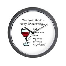 Seen my wine funny Wall Clock