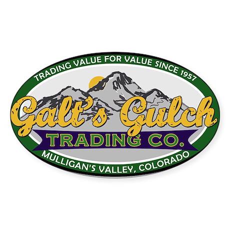 Galt's Gulch Trading Co. Sticker (Oval)