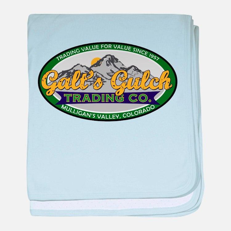 Galt's Gulch Trading Co. baby blanket
